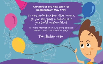 Our parties are now open for booking from May 17th